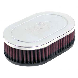 K&N® - Dual Flange Oval Straight Air Filter