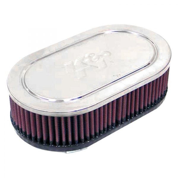K&N® RC-2840 - Dual Flange Oval Straight Red Air Filter (2 ...