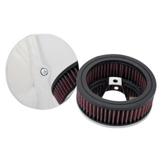 K&N® - Round Chrome Air Cleaner Assembly