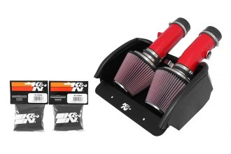 K&N® 69-2527TTR - 69 Series Typhoon Cold Air Intake Kit (Red)