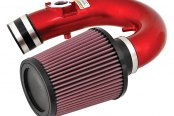 K&N® - 69 Series Typhoon Short Ram Intake Kit - Red