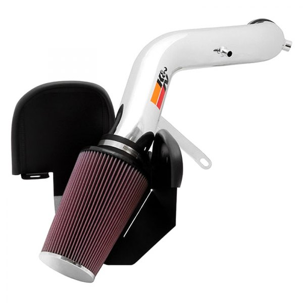 K&N® - 77 Series High-Flow Performance Air Intake Kit - Polished
