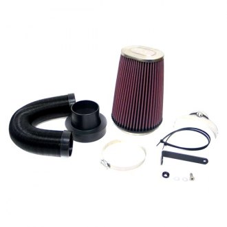K&N® - 57i Series Generation I Black Cold Air Intake System with Intake Pipe with Red Filter