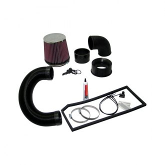 K&N® - 57i Series Generation I Flex Hose Black Cold Air Intake System with Intake Pipe