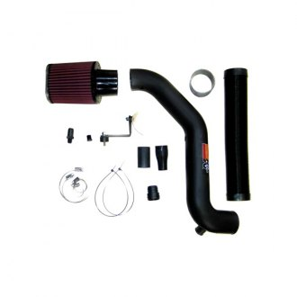 K&N® - 57i Series Generation I High-Density Polyethylene & Flex Hose Black Cold Air Intake System with Intake Pipe