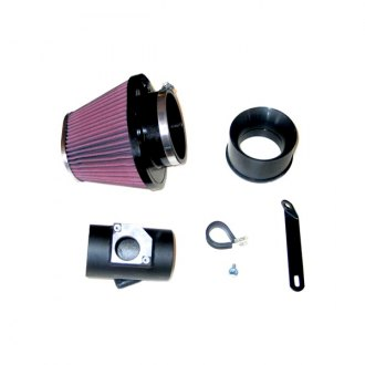 K&N® - 57i Series Generation I Aluminum Black Cold Air Intake System with Intake Pipe with Red Filter