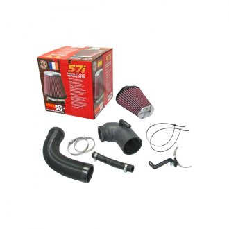 K&N® - 57i Series Generation I Flex and Rubber Hose Black Cold Air Intake System with Intake Pipe with Red Filter