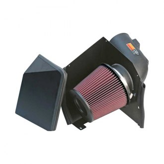 K&N® - 57 Series FIPK Generation II High-Density Polyethylene Black Cold Air Intake System with Red Filter