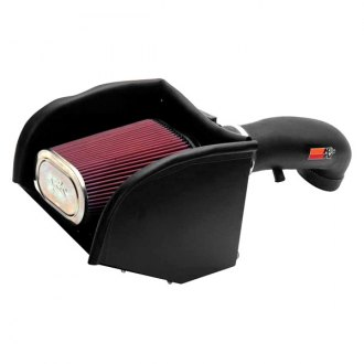 K&N® - 57 Series FIPK Generation II High-Density Polyethylene Black Cold Air Intake System with Red Filter and Intake Pipe and Heat Shield