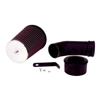 K&N® - 57 Series FIPK Generation I High-Density Polyethylene Black Cold Air Intake System with Intake Pipe with Red Filter