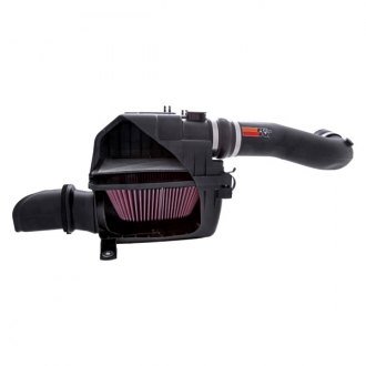 K&N® - 57 Series FIPK Generation II High-Density Polyethylene Black Cold Air Intake System with Intake Pipe with Red Filter