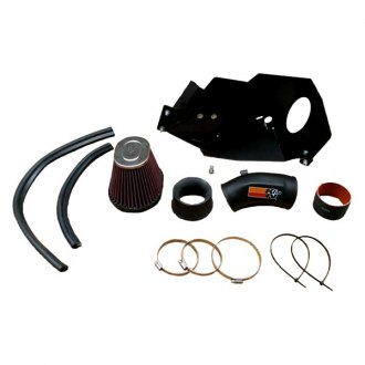 K&N® - 57i Series Generation II High-Density Polyethylene Black Cold Air Intake System with Intake Pipe with Red Filter