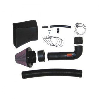 K&N® - 57i Series Generation II High-Density Polyethylene and Flex Hose Black Cold Air Intake System with Intake Pipe with Red Filter