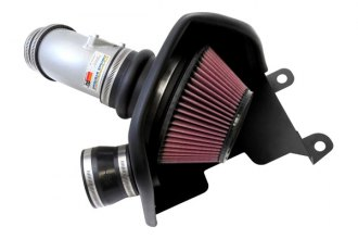 K&N® 69-1019TS - 69 Series Typhoon Silver Short Ram Intake Kit