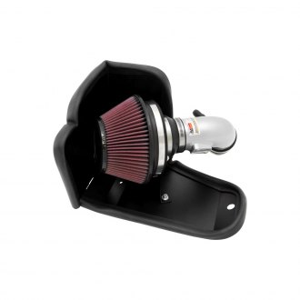 K&N® - 69 Series Typhoon® Aluminum Silver Cold Air Intake System with Red Filter
