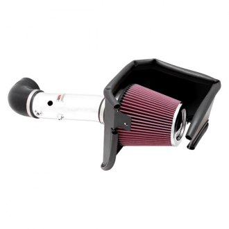 K&N® - 69 Series Typhoon® Aluminum Polished Cold Air Intake System with Red Filter