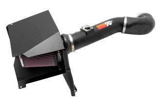 K&N® 77-3076KTK - 77 Series High-Flow Performance Textured Black Air Intake Kit