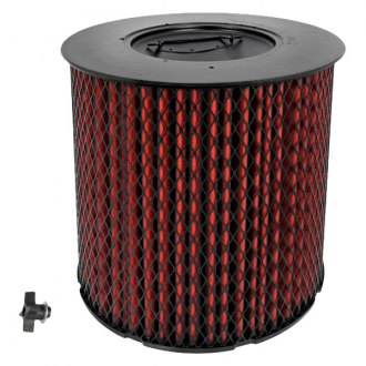 K&N® - Heavy Duty Round Straight Red Air Filter
