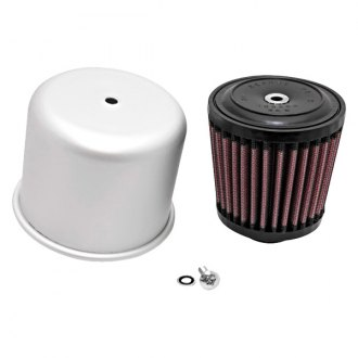 K&N® - Rubber Mounting Flanged Covered Red Air Filter