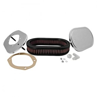 K&N® - Custom Racing Oval Red Air Cleaner Assembly for 2BBL and 4BBL Carburetors