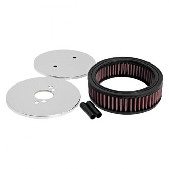 "K&N® - Custom Racing Round Red Air Cleaner Assembly (1.5"" ID)"