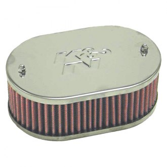 "K&N® - Custom Racing Oval Red Air Cleaner Assembly (4.438"" ID)"