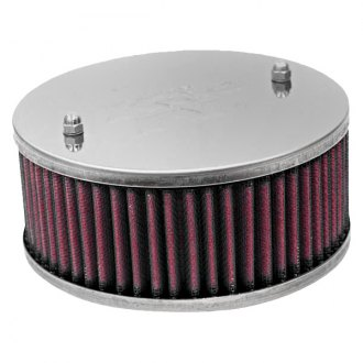 K&N® - Custom Racing Round Red Air Cleaner Assembly
