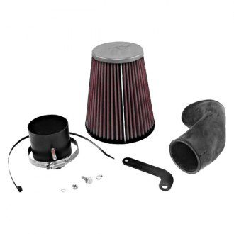 K&N® - 57i Series Generation I Black Cold Air Intake System with Red Filter and Intake Pipe