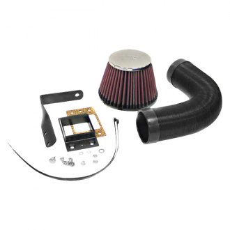 K&N® - 57i Series Generation I Flex Hose Black Cold Air Intake System with Red Filter and Intake Pipe