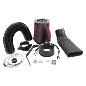 K&N® - 57i Series Generation I Black Cold Air Intake System with Red Filter with Intake Pipe