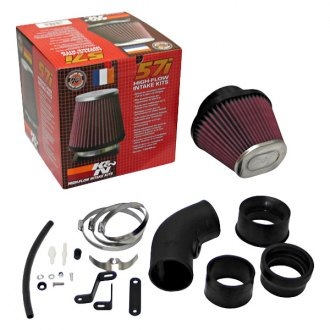 K&N® - 57i Series Generation I High-Density Polyethylene Black Cold Air Intake System with Red Filter and Intake Pipe