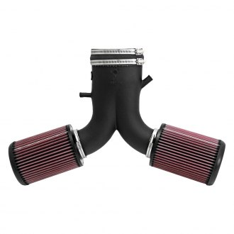 K&N® - 57 Series FIPK Generation II High-Density Polyethylene Black Cold Air Intake System with Red Filter and Intake Pipe