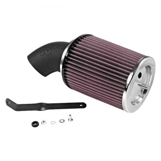 K&N® - 57 Series FIPK Generation I High-Density Polyethylene Black Cold Air Intake System with Red Filter and Intake Pipe