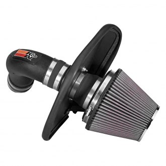 K&N® - 57 Series FIPK Generation II High-Density Polyethylene Black Cold Air Intake System with Red Filter with Intake Pipe