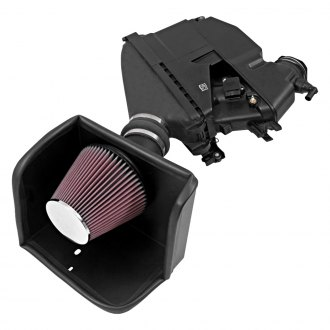 K&N® - 57 Series FIPK Generation II High-Density Polyethylene Cold Air Intake System with Red Filter and Heat Shield