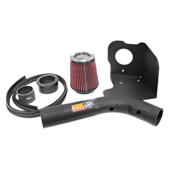 K&N® - 57i Series Generation II High-Density Polyethylene Black Cold Air Intake System with Red Filter with Intake Pipe