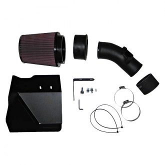 K&N® - 57i Series Generation II High-Density Polyethylene Black Cold Air Intake System with Red Filter and Intake Pipe
