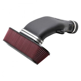 K&N® - 63 Series AirCharger® Black Cold Air Intake System with Red Filter