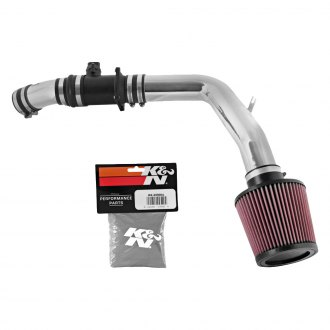 K&N® - 69 Series Typhoon® Complete Aluminum Cold Air Intake System with Red Filter