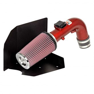 K&N® - 69 Series Typhoon® Aluminum Short Ram Air Intake System with Red Filter