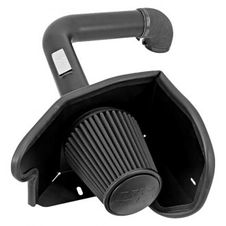 K&N® - 71 Series Blackhawk Induction™ Aluminum Black Powder Coated Cold Air Intake System with Black Filter