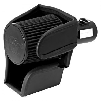 K&N® - 71 Series Blackhawk Induction™ Aluminum Textured Black Cold Air Intake System with Black Filter