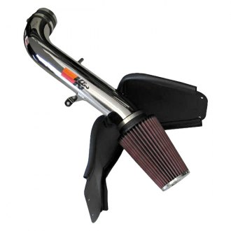 K&N® - 77 Series High-Flow Performance Aluminum Polished Cold Air Intake System with Red Filter