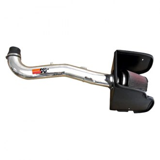 K&N® - 77 Series High-Flow Performance Aluminum Cold Air Intake System with Red Filter