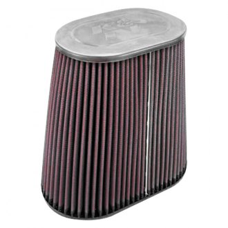 K&N® - Dual Flange Oval Tapered Red Air Filter
