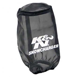 K&N® - Snowcharger® Round Tapered Black Pre-Filter