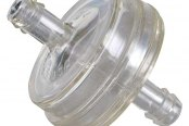 "K&N® - Clear Inline Fuel Filter 1/4"" Flanges 1-5/16"" Body Dia."