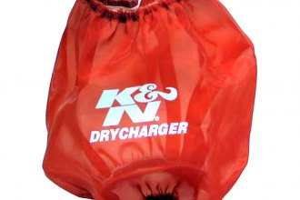 K&N® RF-1042DR - DryCharger Filter Wrap (Red)