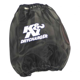K&N® - Drycharger® Round Tapered Black Pre-Filter