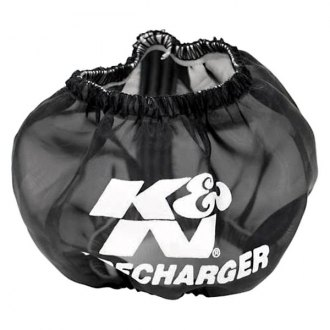 K&N® - Precharger Round Reverse Tapered Black Pre-Filter